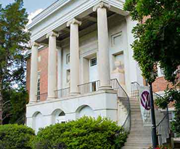 Front of Candler Building on Wesleyan College campus