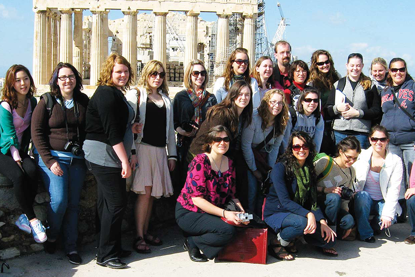 Students during Study Abroad to Greece