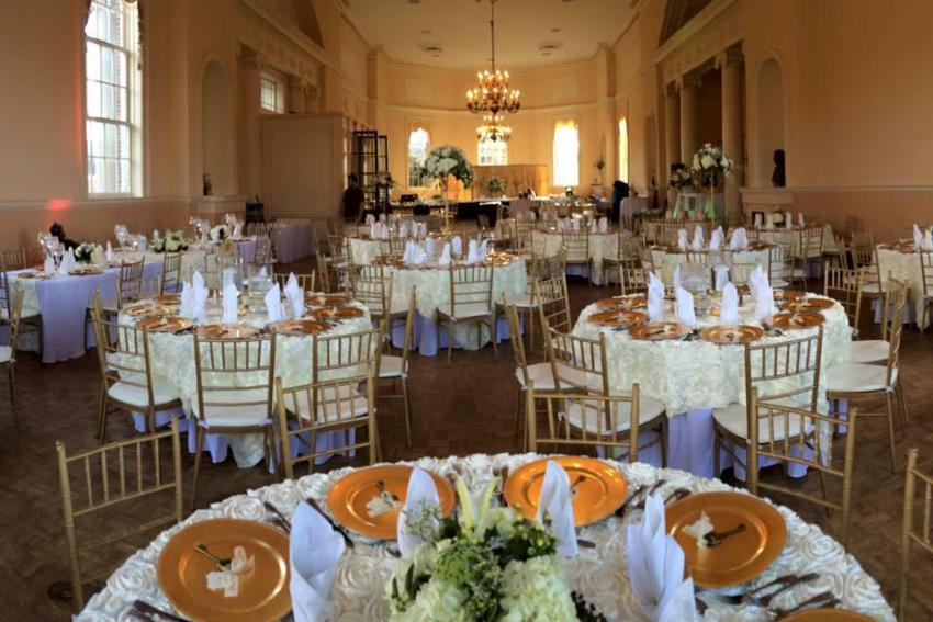 Dinner Hall decorated for a special event.