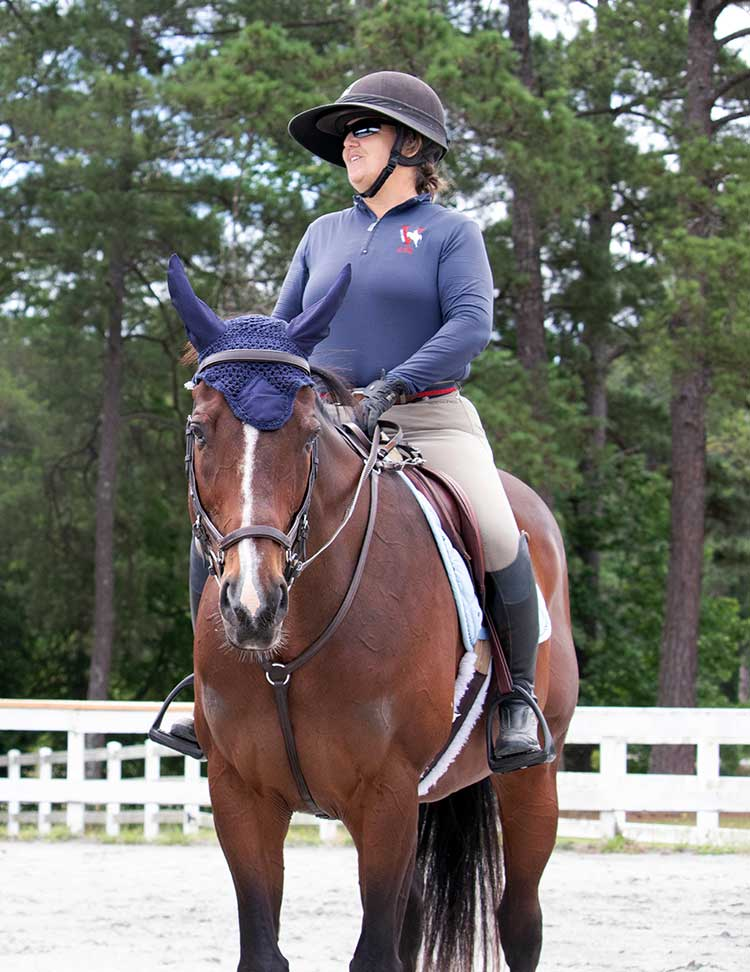 Catherine Baker at Equestrian Center