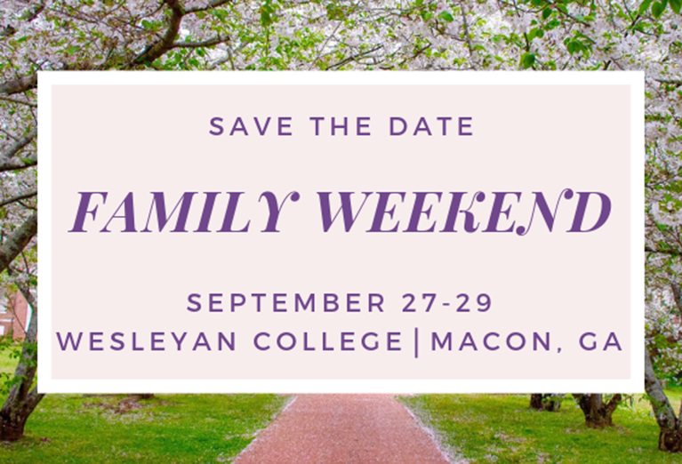 Family Weekend, September 27-29, 2019